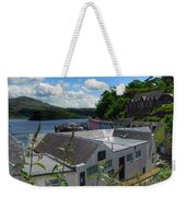 Over The Rooftops At Portree Weekender Tote Bag