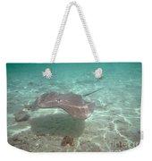 Over-under Water Of A Stingray At Bora Bora Weekender Tote Bag