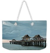 Clouds Over The Naples Pier Weekender Tote Bag