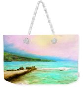 Overcast Sunset At Napoopoo Beach Park Weekender Tote Bag