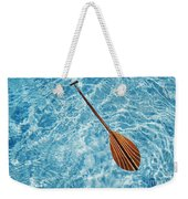 Overhead View Of Paddle Weekender Tote Bag
