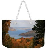Overlooking Kinzua Lake Weekender Tote Bag by Rick Morgan