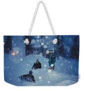 Overnight Snow Weekender Tote Bag