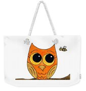 Owl And Bee Weekender Tote Bag