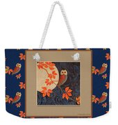 Owl And Moon On Midnight Blue Weekender Tote Bag