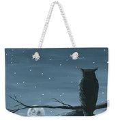 Owl And The Moon Weekender Tote Bag