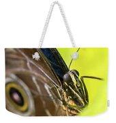 Owl Butterfly In Yellow Flower Weekender Tote Bag