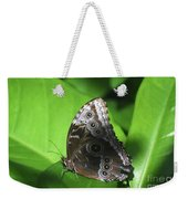 Owl Butterfly On A Cluster Of Green Leaves Weekender Tote Bag
