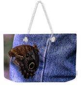 Owl Butterfly On Jeans Weekender Tote Bag
