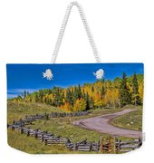 Owl Creek Pass Road Weekender Tote Bag