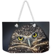 Owl Face To Face Weekender Tote Bag