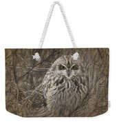 Owl In The Woods Weekender Tote Bag
