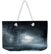 Owl Of Minerva Weekender Tote Bag by Lourry Legarde