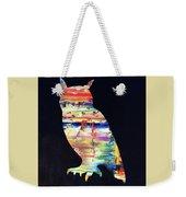 Owl On Black Weekender Tote Bag