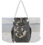 Owl On The Beach Weekender Tote Bag