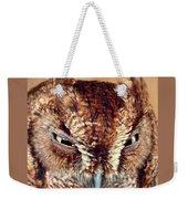 Owl Who? -brown Owl Weekender Tote Bag
