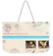 owls First day cover Weekender Tote Bag
