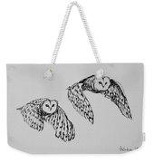 Owls In Flight Weekender Tote Bag