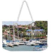 Oyster Bay Marina Weekender Tote Bag