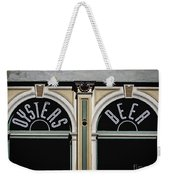 Oysters And Beer Weekender Tote Bag