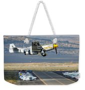 P51 Mustang Little Horse Gear Coming Up Friday At Reno Air Races 16x9 Aspect Signature Edition Weekender Tote Bag