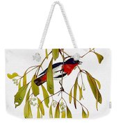 pa TonyOliver AustralianBirds 13 MistletoeBird Tony Oliver Weekender Tote Bag