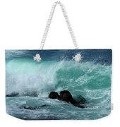 Pacific Coast Crashing Wave Photograph Weekender Tote Bag