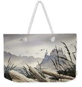 Pacific Northwest Driftwood Shore Weekender Tote Bag by James Williamson