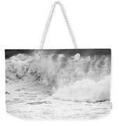 Pacific Ocean Breakers Black And White Weekender Tote Bag