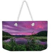 Pack River Sunset Weekender Tote Bag