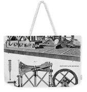 Paddle-driven Beam-engine Suction Pump Weekender Tote Bag