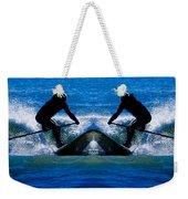 Paddleboarding X 2 Weekender Tote Bag