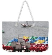Paddleboats Waiting In The Inner Harbor At Baltimore Weekender Tote Bag