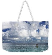 Paddling In The Open Weekender Tote Bag