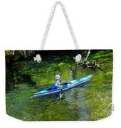 Paddling The Ichetucknee Weekender Tote Bag