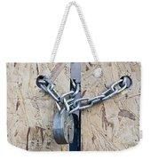 Padlock And Chain Weekender Tote Bag