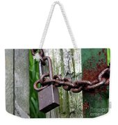 Padlocked Gate Weekender Tote Bag