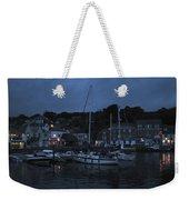 Padstow Harbor At Night Weekender Tote Bag