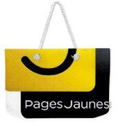 Pages Jaunes Weekender Tote Bag