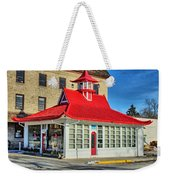 Pagoda Gas Station Weekender Tote Bag