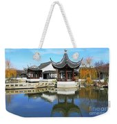 Pagoda In The Pool Weekender Tote Bag