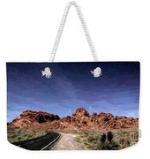 Paint Mixed Valley Of Fire Landscape  Weekender Tote Bag