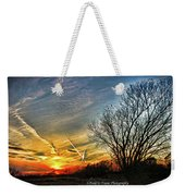 Painted Autumn Sunset Weekender Tote Bag