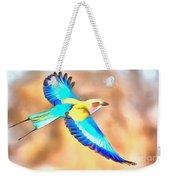 Painted Birds In Skyline Weekender Tote Bag