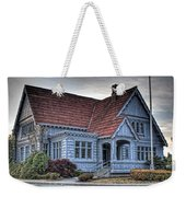 Painted Blue House Weekender Tote Bag