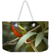 Painted Bunting Male Weekender Tote Bag