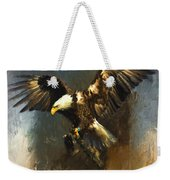 Painted Eagle Weekender Tote Bag