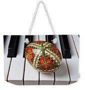 Painted Easter Egg On Piano Keys Weekender Tote Bag