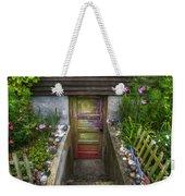 Painted Garden Door Weekender Tote Bag