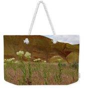 Painted Hills White Wildflowers Weekender Tote Bag